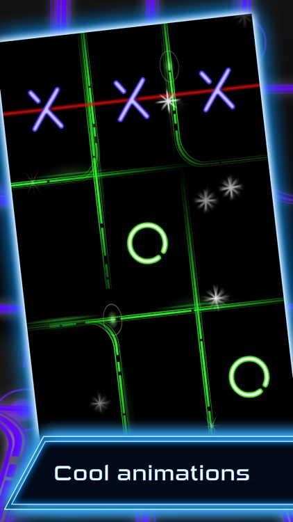 Tic Tac Toe - Glow screenshot-1
