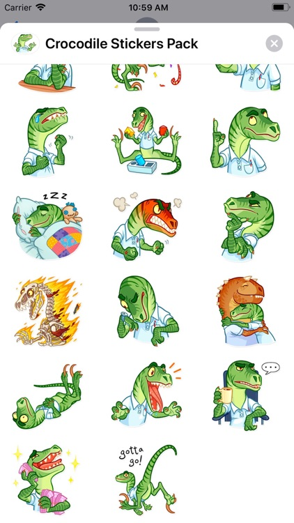 Crocodile Stickers Pack screenshot-1