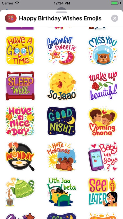 Happy Birthday Wishes Emojis screenshot-3