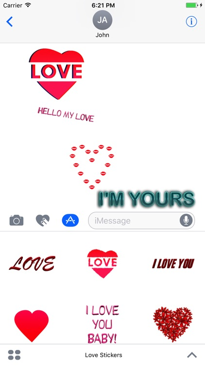 Love Stickers for Messages screenshot-0