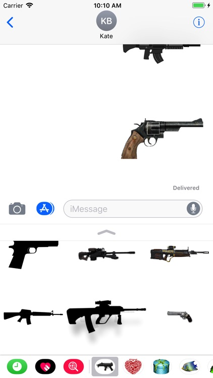 Guns Stickers for iMessage