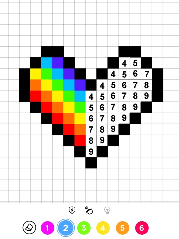 Окраска пикселей - No.Draw для iPad