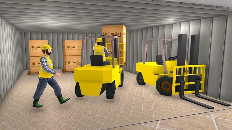 Mall Cargo Truck Forklift 3D screenshot-3
