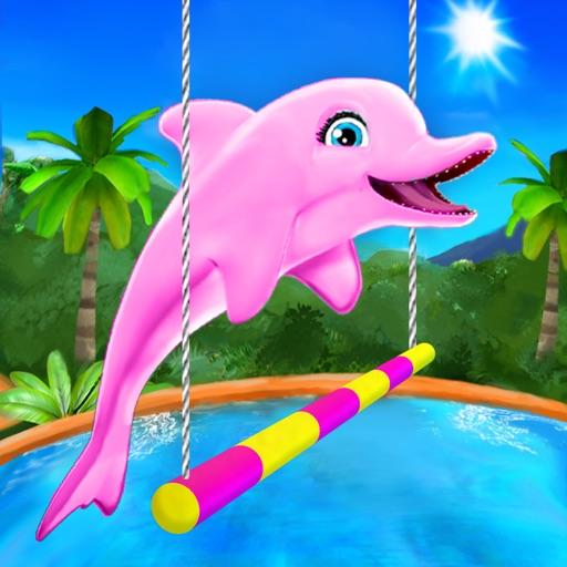 Выступает дельфин