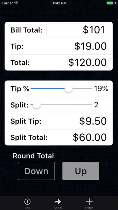 Tip Calculator % Pro Screenshot