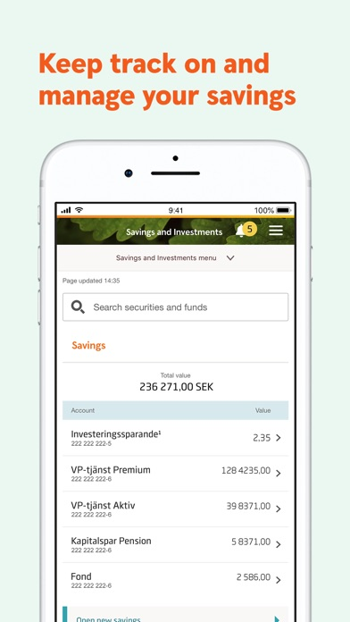 Screenshot for Swedbank private in Egypt App Store