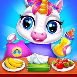 Cute Unicorn Baby Care Game