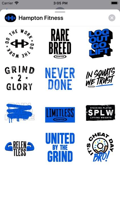 Hampton Fitness Stickers