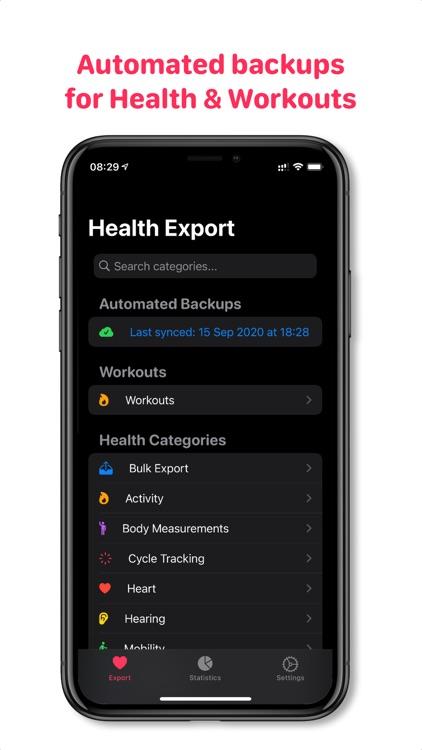 Health Auto Export to CSV