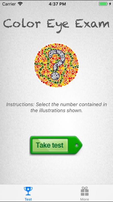 Colorblind Eye Exam Test Screenshot