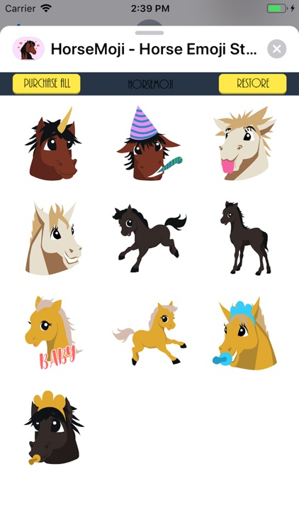 HorseMoji Horse Emoji Stickers screenshot-3