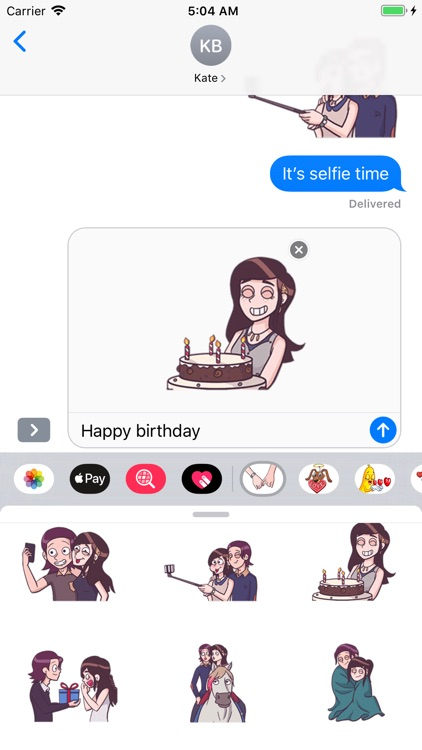 Young Couple Life Stickers screenshot-3