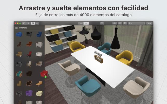 Planner 5D: diseño interior en Mac App Store