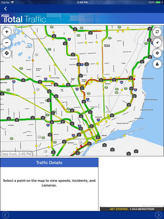 Metro Detroit Traffic Map.Fox 2 Weather Radar Alerts On The App Store
