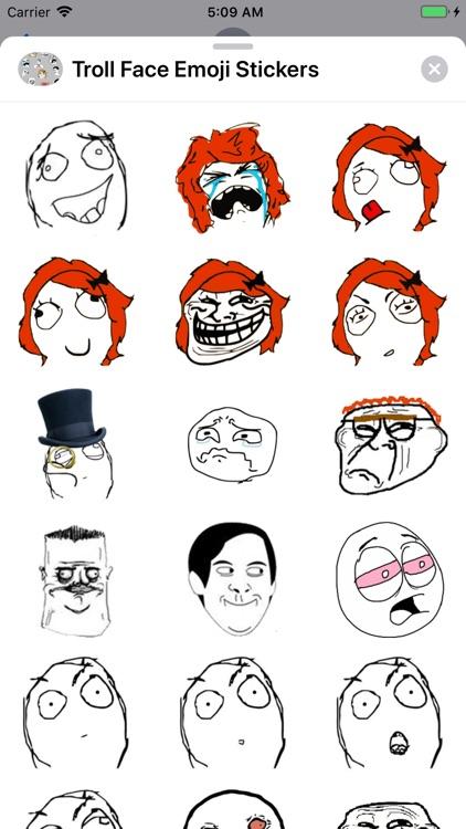 Troll Face Emoji Stickers screenshot-6