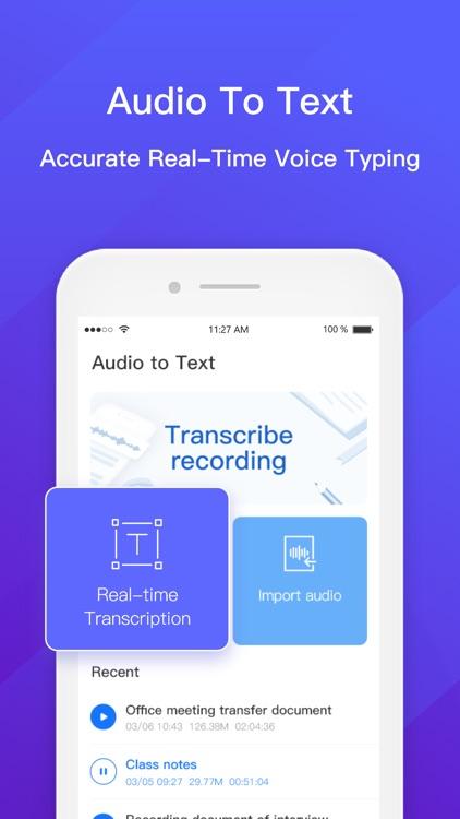Audio to Text - Voice Recorder screenshot-0