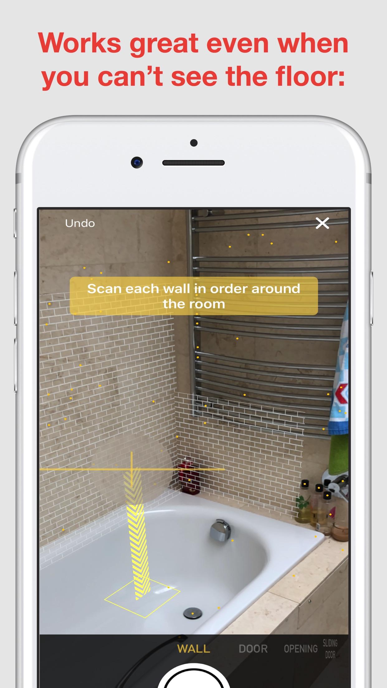 Screenshot do app RoomScan Pro