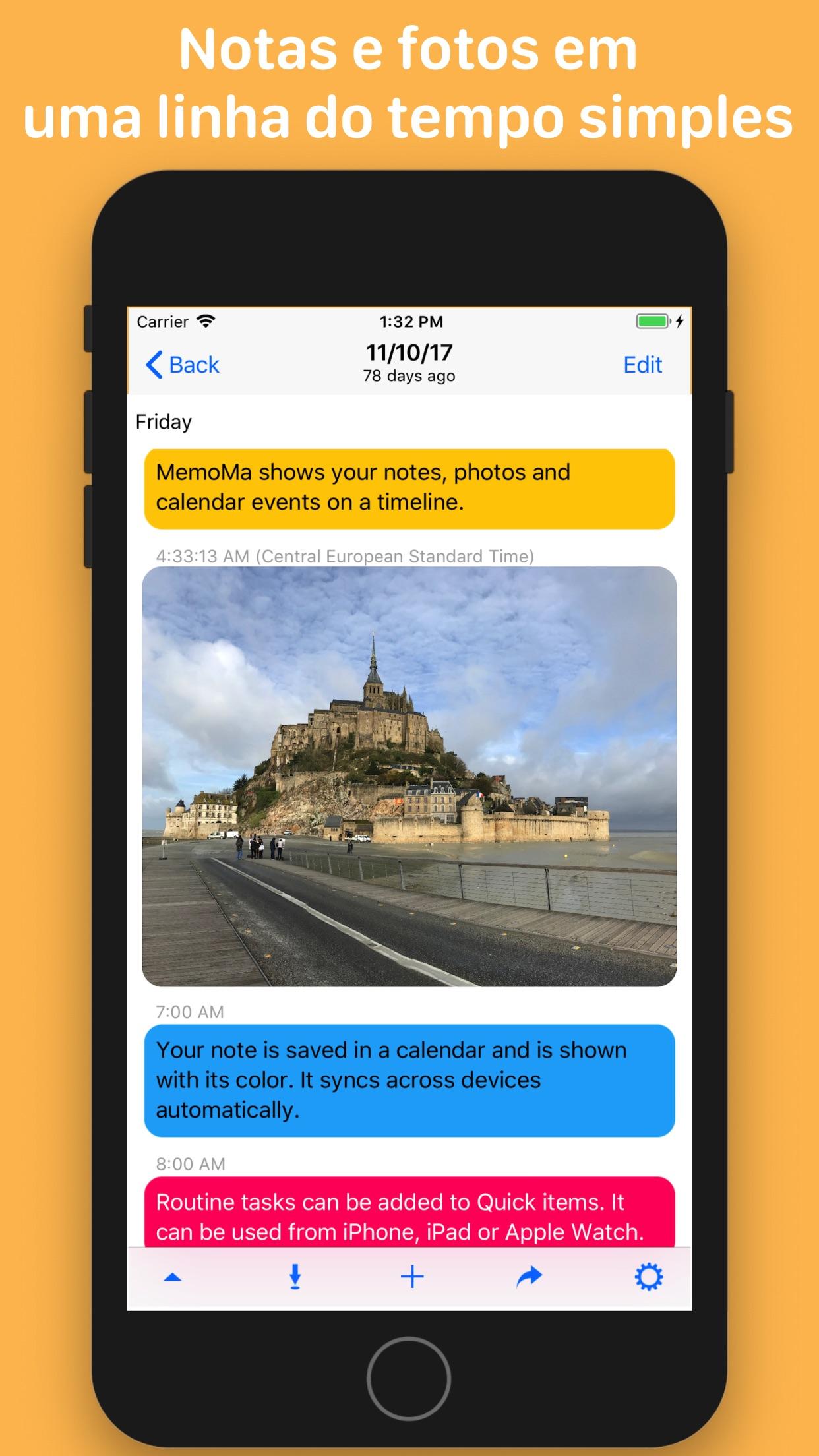 Screenshot do app MemoMa