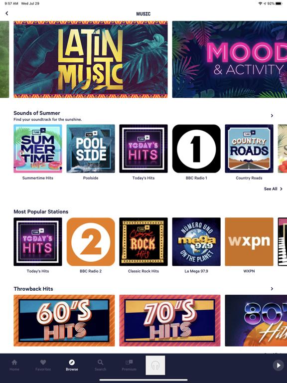 TuneIn Radio Pro Screenshots