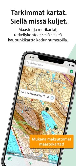 Karttaselain Maastokartta App Storessa