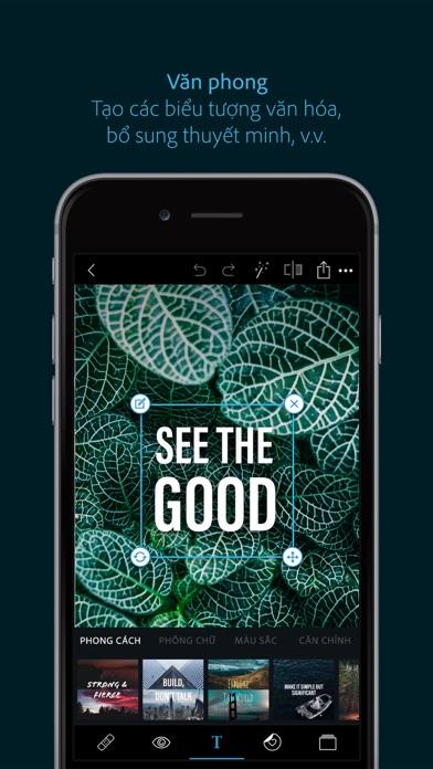 Screenshot for Adobe Photoshop Express in Viet Nam App Store