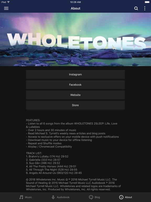 WHOLETONES 2Sleep Screenshots