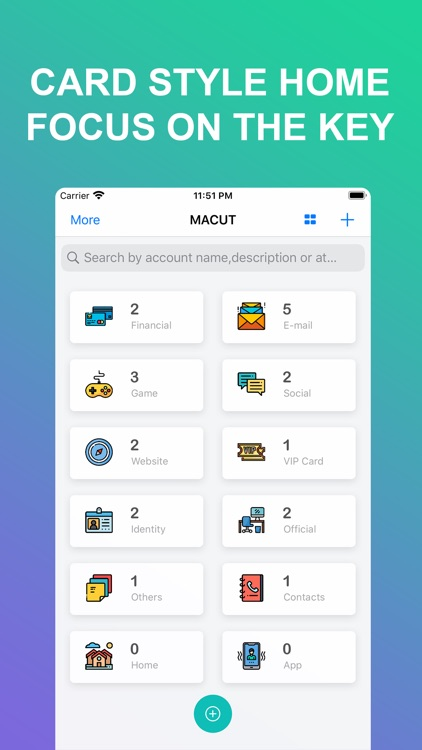 MACUT-Encrypted save accounts