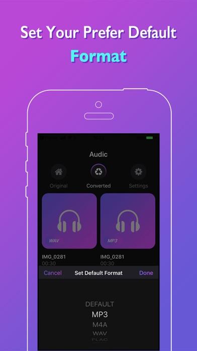 Audic - Audio MP3 Converter ScreenShot0