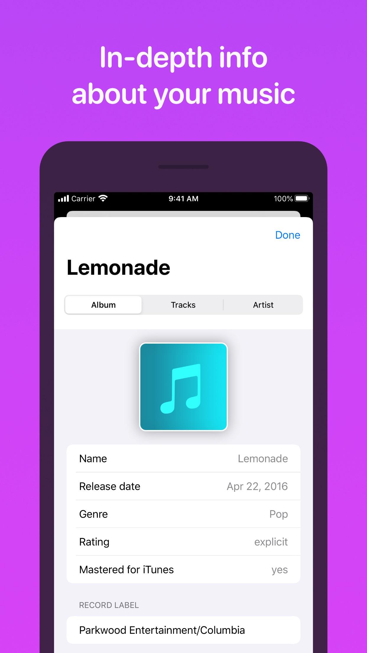 Screenshot do app MusicSmart