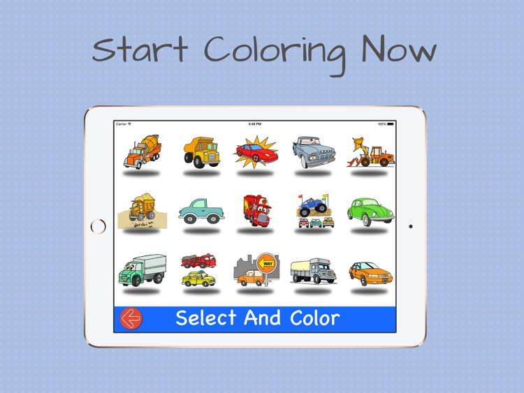 Coloring with cars and trucks screenshot-3