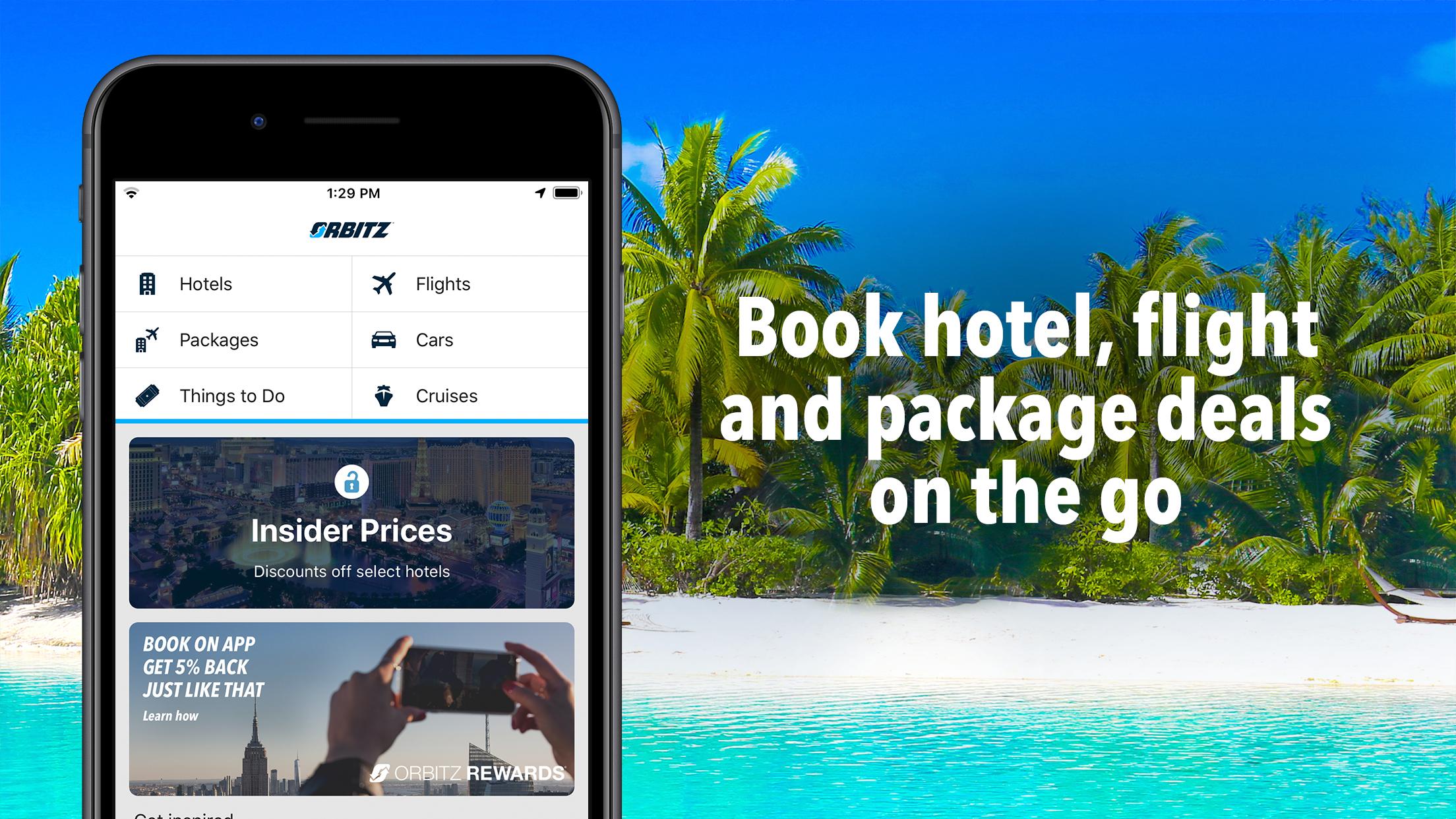 Orbitz Hotels & Flights Screenshot