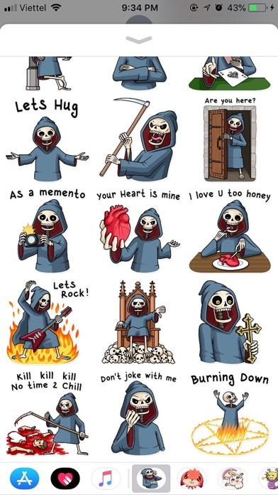 Death Pun Funny Stickers screenshot 3