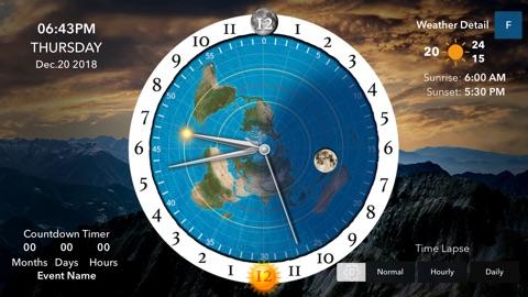 Screenshot #3 for Flat Earth Sun & Moon Clock