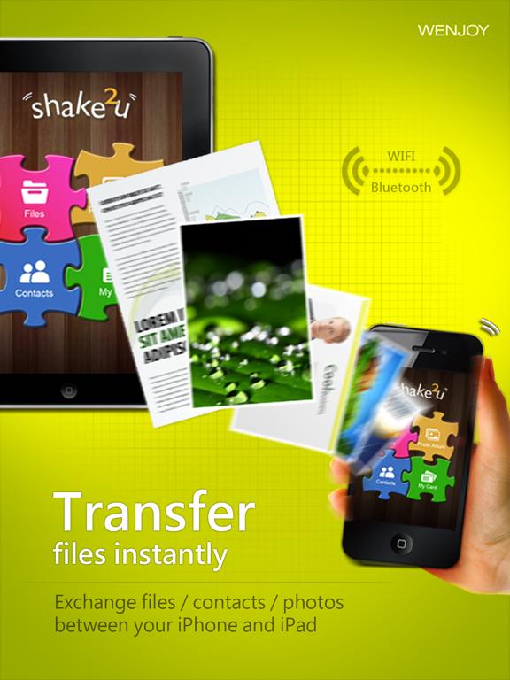 shake2u - a secure way to transfer files via bluetooth and wifi screenshot