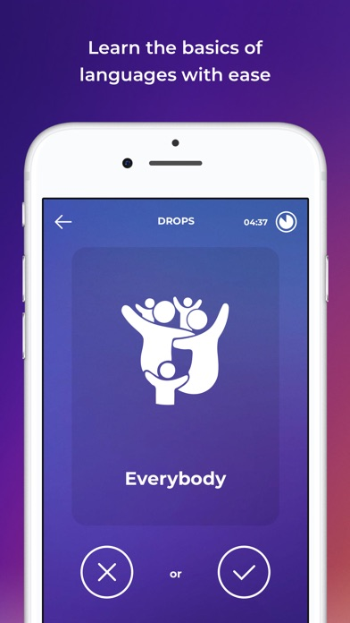 Screenshot for Drops: Learn 31 new languages in United States App Store