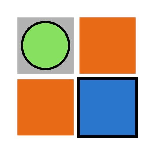 Put a circle in a blue square