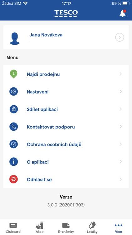 Clubcard Tesco Česko screenshot-5