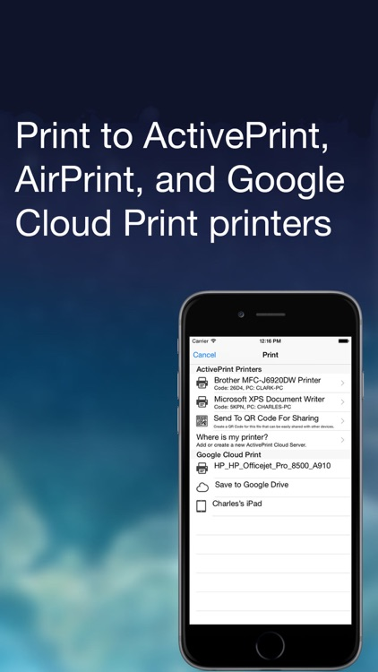 ActivePrint: Mobile Printing by SR2 Solutions, LLC