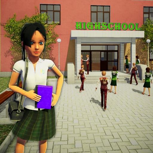 School Girl Life Simulator 3D iOS App