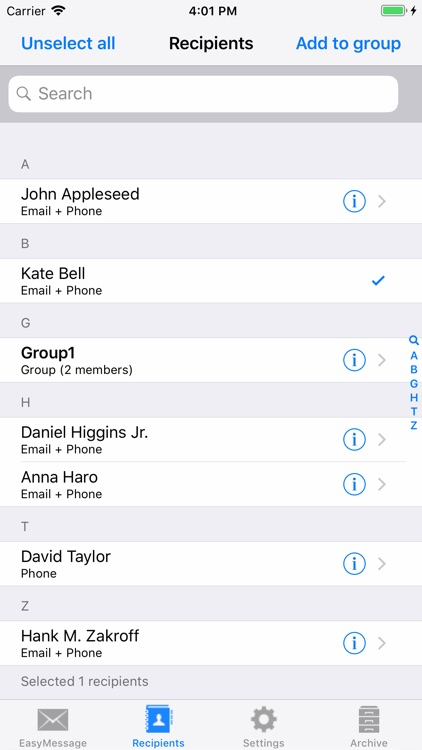 Easy Message LITE - Mass Text screenshot-5