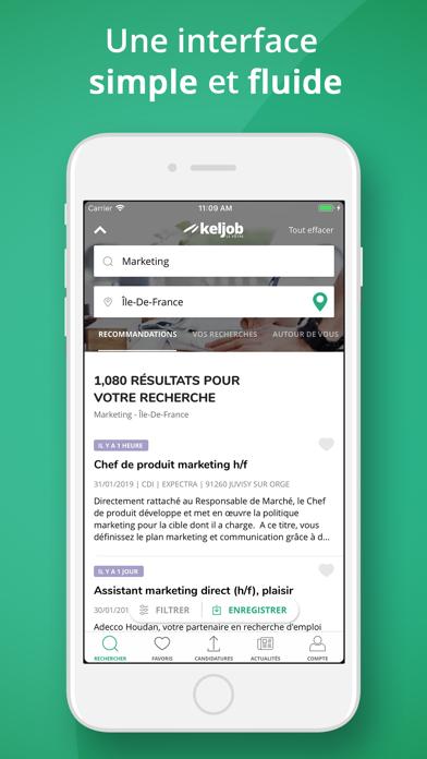 Keljob : offres d'emploi screenshot three