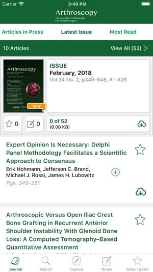 Arthroscopy Journal on the App Store