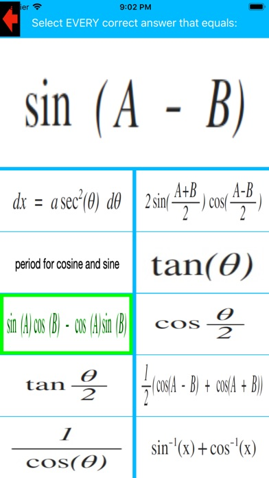 Trigonometric Identities Tutor app image