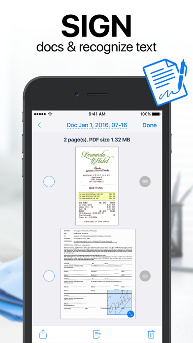 iScanner: PDF Document Scanner Screenshot