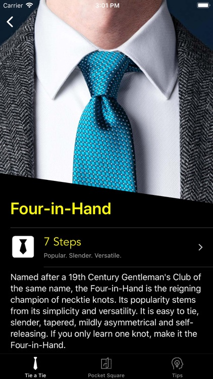 How To Tie a Tie • screenshot-1