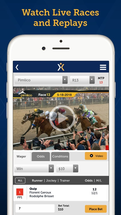 Xpressbet Horse Racing Betting screenshot-1
