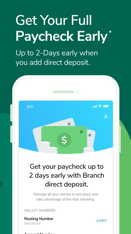 Branch: Banking & Instant Pay