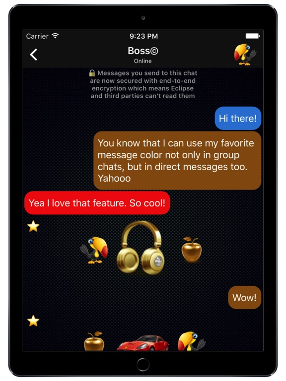 Eclipse - Chat Rooms Screenshots