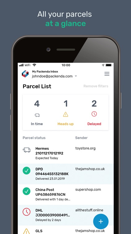 Packenda - Parcel Tracking
