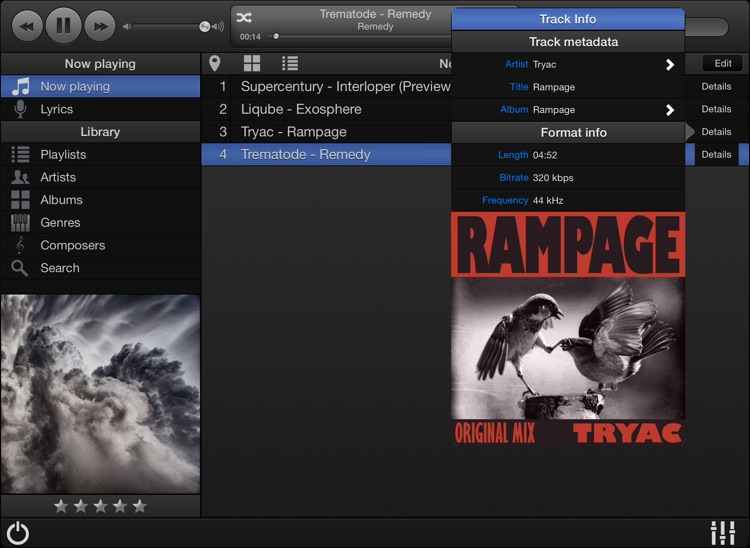 MonkeyMote Music Remote HD screenshot-3